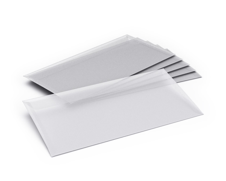 25 Transparente Briefumschläge DL
