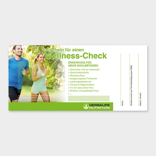 Wellness-Check Gutschein Herbalife Motiv 7