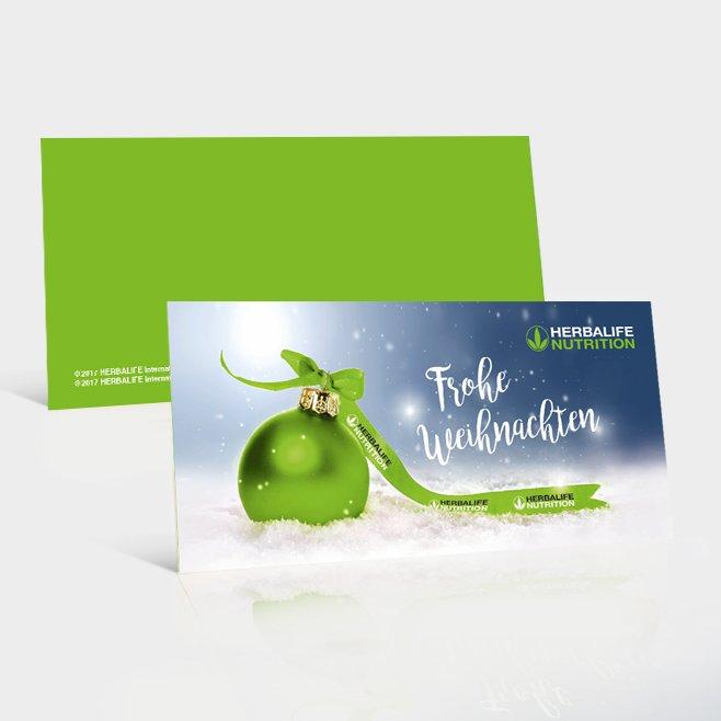 Weihnachtskarten DL, 4 Seiter 25 Stück Version 2